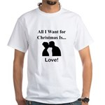 Christmas Love White T-Shirt
