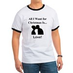 Christmas Love Ringer T