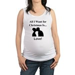 Christmas Love Maternity Tank Top