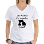 Christmas Love Women's V-Neck T-Shirt