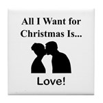 Christmas Love Tile Coaster
