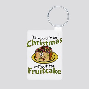 Funny Christmas Cartoon Fruitcake Keychains