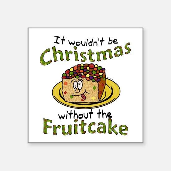 Funny Christmas Cartoon Fruitcake Sticker