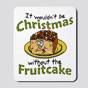 Funny Christmas Cartoon Fruitcake Mousepad