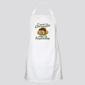 Funny Christmas Cartoon Fruitcake Apron