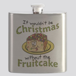 Funny Christmas Cartoon Fruitcake Flask