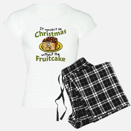 Funny Christmas Cartoon Fruitcake Pajamas