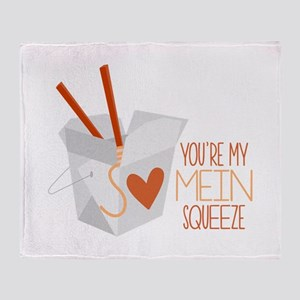 Mein Squeeze Throw Blanket