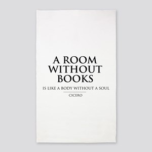 Room without books body without a soul 3'x5' Area