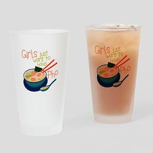Girls Just Drinking Glass