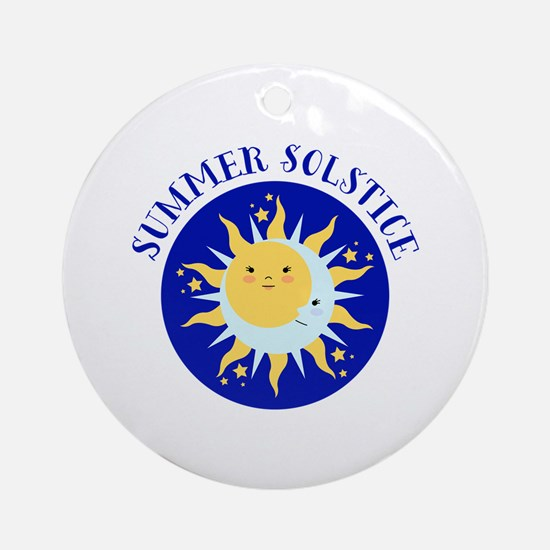 Summer Solstice Ornament (Round)