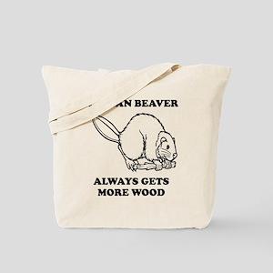 A Clean Beaver Always Gets More Wood Tote Bag