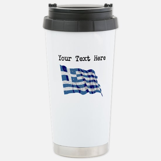 Greece Flag (Distressed) Mugs