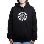 Graj Logo White On Black Women's Hooded Sweatshirt