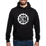 Graj Logo White On Black Hoodie (dark)