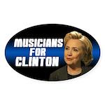 Musicians For Clinton Sticker