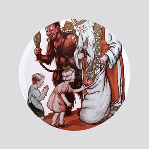 "St. Nick & The Krampus 3.5"" Button"
