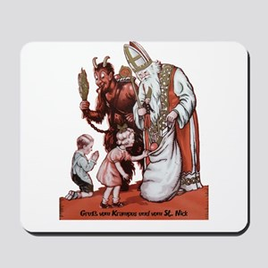 St. Nick & The Krampus Mousepad