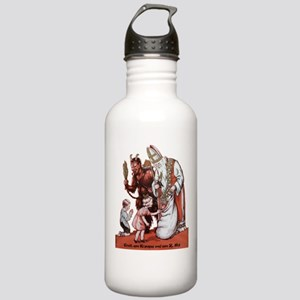St. Nick & The Krampus Sports Water Bottle