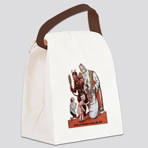 St. Nick & The Krampus Canvas Lunch Bag