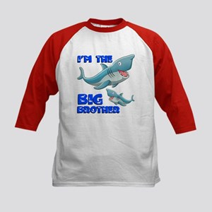 Big Brother Shark Kids Baseball Jersey