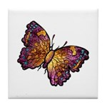 Nature Art Beautiful Butterfly Tile Coaster