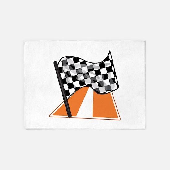 Race Flag 5'x7'Area Rug
