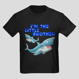 Little Brother Shark Kids Dark T-Shirt
