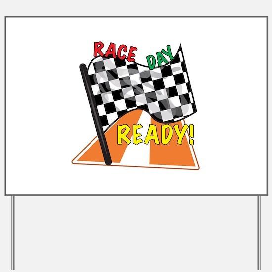 Race Day Yard Sign