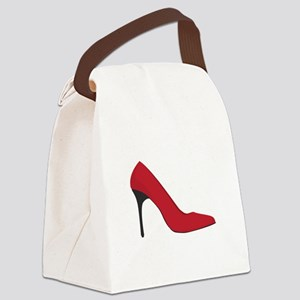 Red Shoe Canvas Lunch Bag