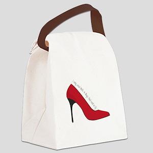 I Wear Heels Canvas Lunch Bag
