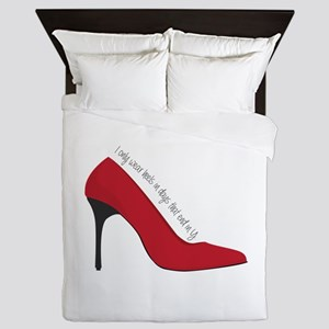 I Wear Heels Queen Duvet