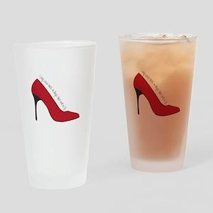 I Wear Heels Drinking Glass