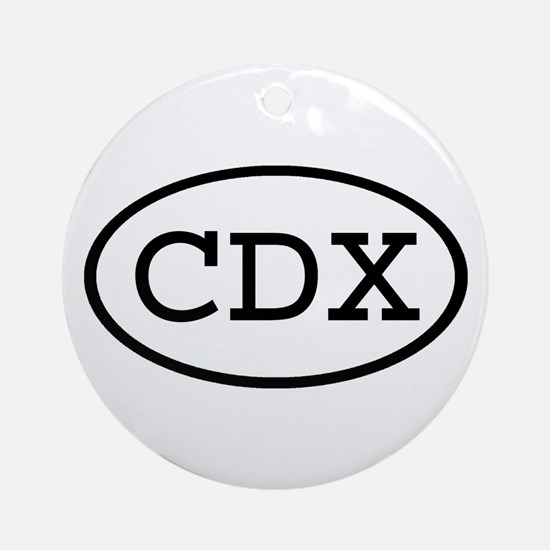 CDX Oval Ornament (Round)