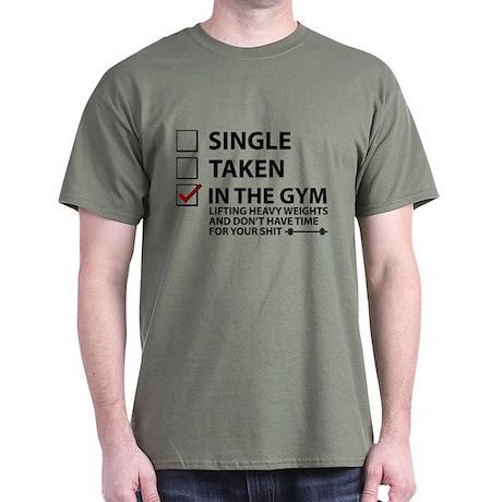 "Herren T-Shirt Bodybuilding ""Single – Taken – In the Gym"""
