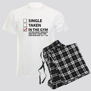 Single Taken In The Gym Men's Light Pajamas