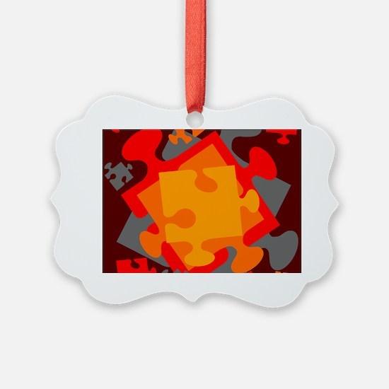 Jigsaw Jumble Ornament