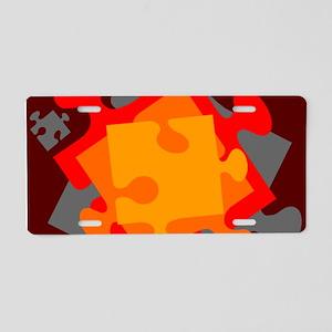 Jigsaw Jumble Aluminum License Plate
