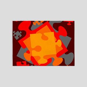 Jigsaw Jumble 5'x7'Area Rug