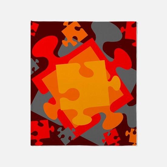 Jigsaw Jumble Throw Blanket