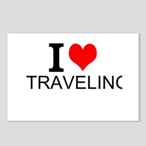 I Love Traveling Postcards (Package of 8)