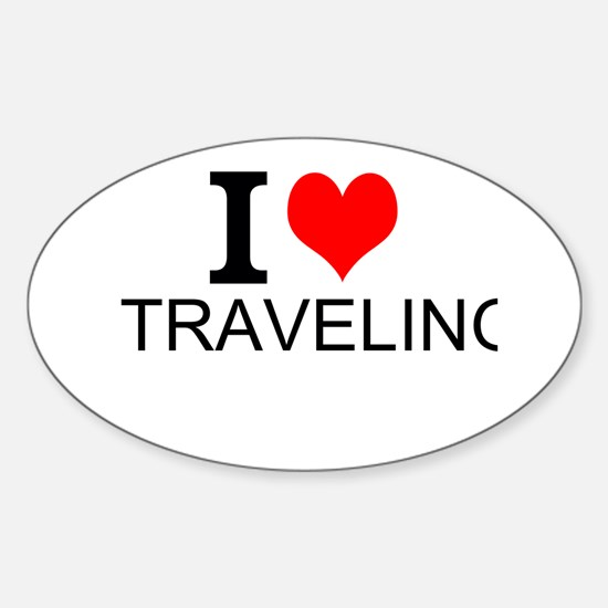 I Love Traveling Decal