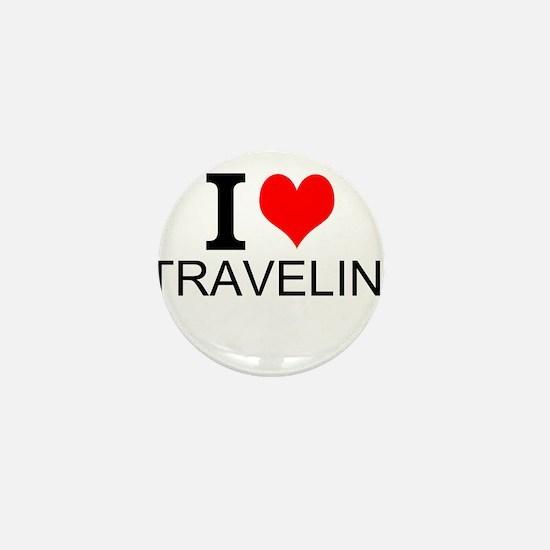 I Love Traveling Mini Button