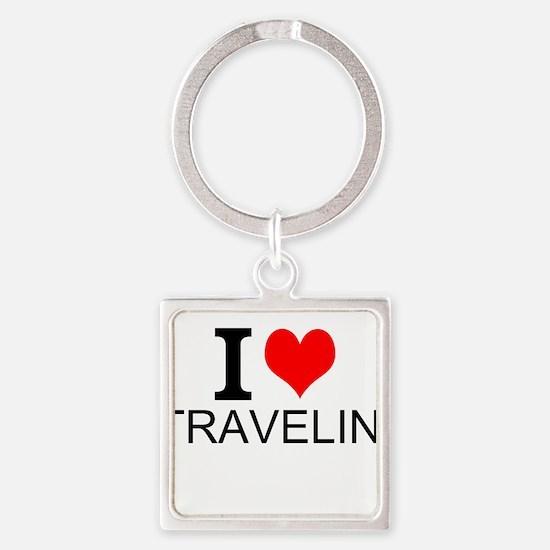 I Love Traveling Keychains