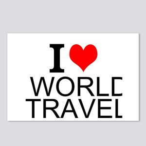 I Love World Travel Postcards (Package of 8)