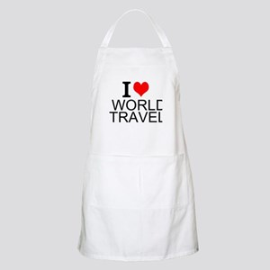 I Love World Travel Apron