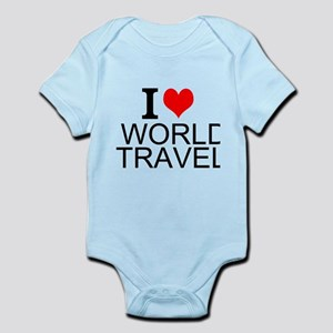 I Love World Travel Body Suit