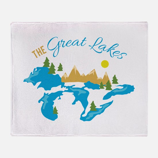 The Great Lakes Throw Blanket