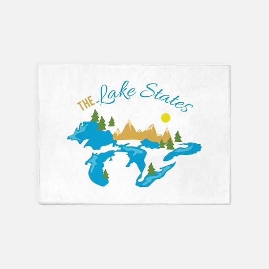 The Lake States 5'x7'Area Rug