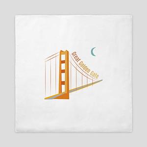 Great Golden Gate Queen Duvet